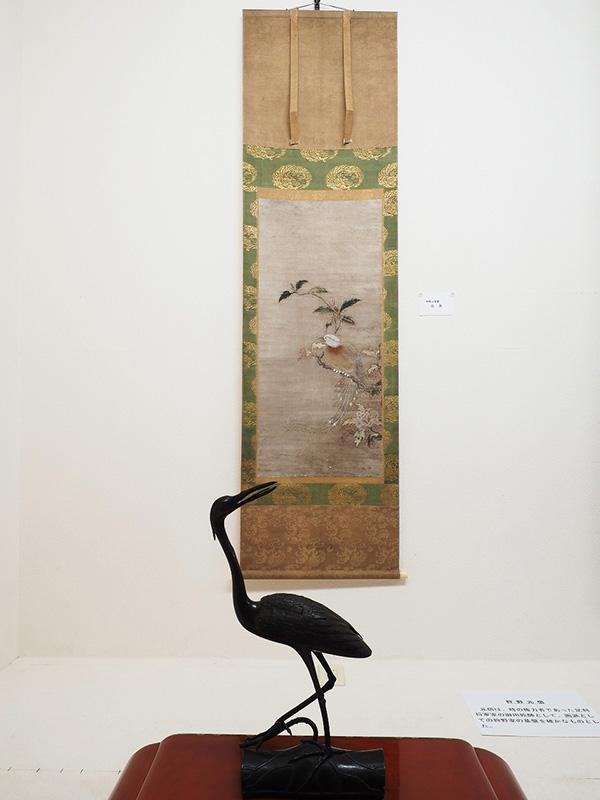 狩野元信の花鳥と鷺香炉
